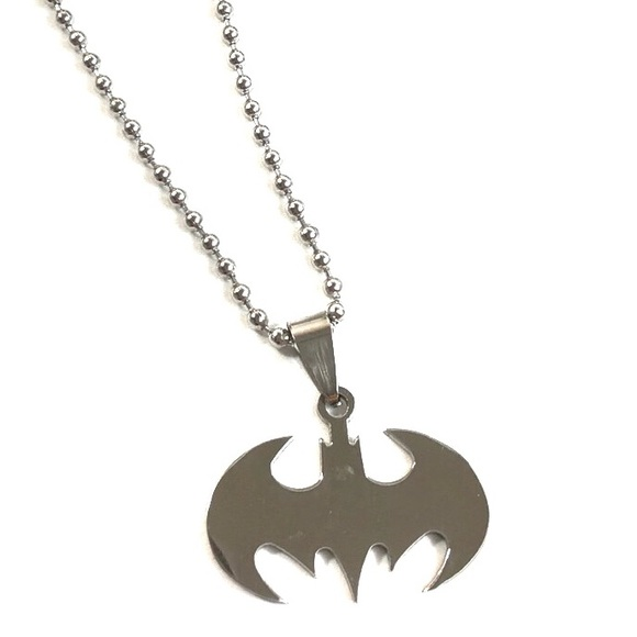 Vintage Men Women Silver Pendant Necklace Stainless Steel Bat Batman Jewelry Hot